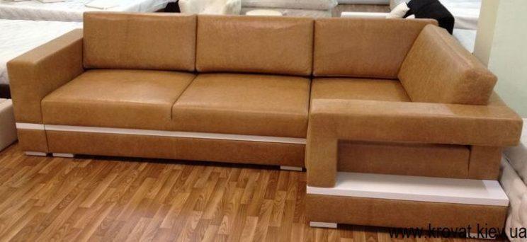 изготовление диванов из кожи