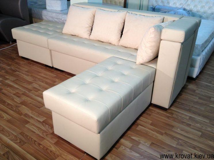 кожаный диван на кухню