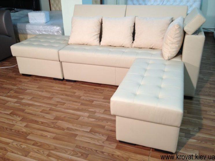 диван с пуфами
