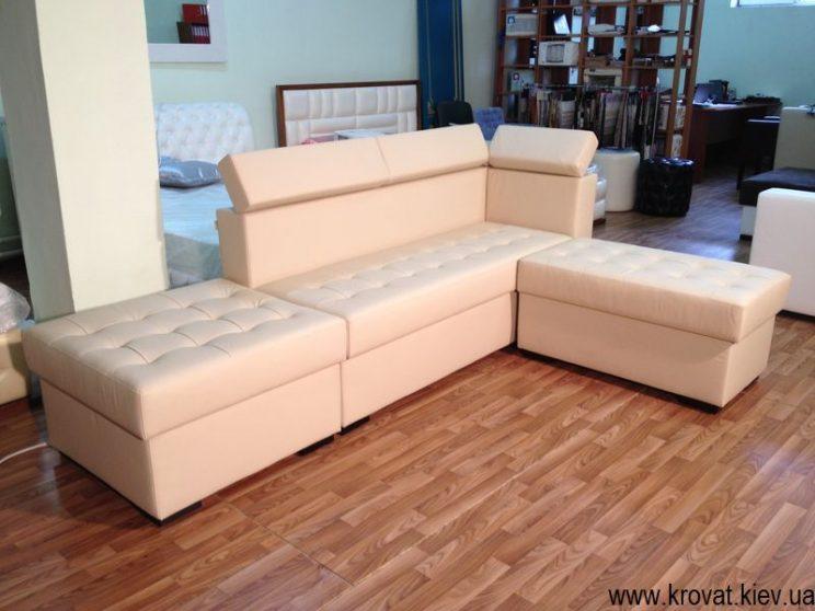 бежевий кутовий диван