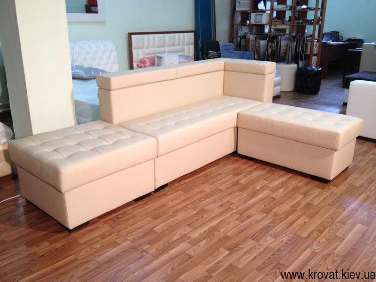 бежевый диван на кухню