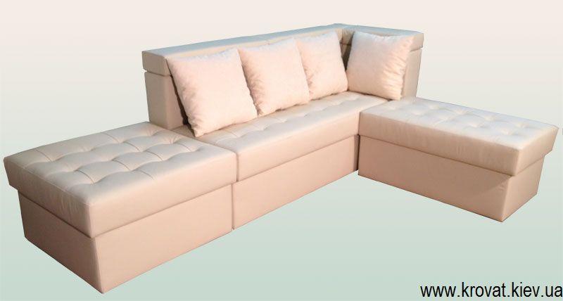 угловой диван на кухню в коже на заказ кожаный купить в киеве