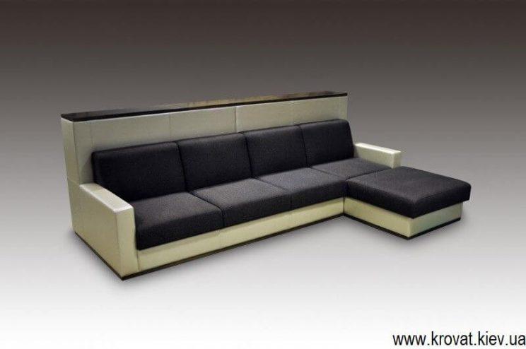 Угловой диван с высокой спинкой на заказ