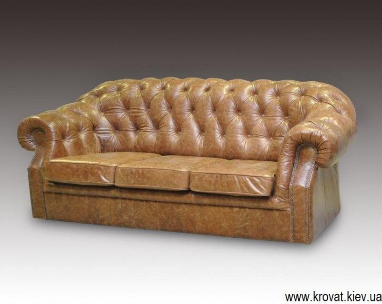 классический диван на заказ с пуговицами