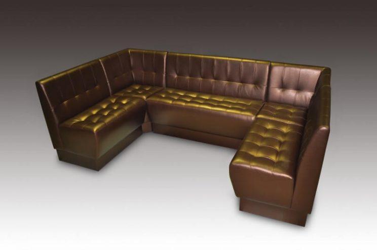 П образный диван для кафе