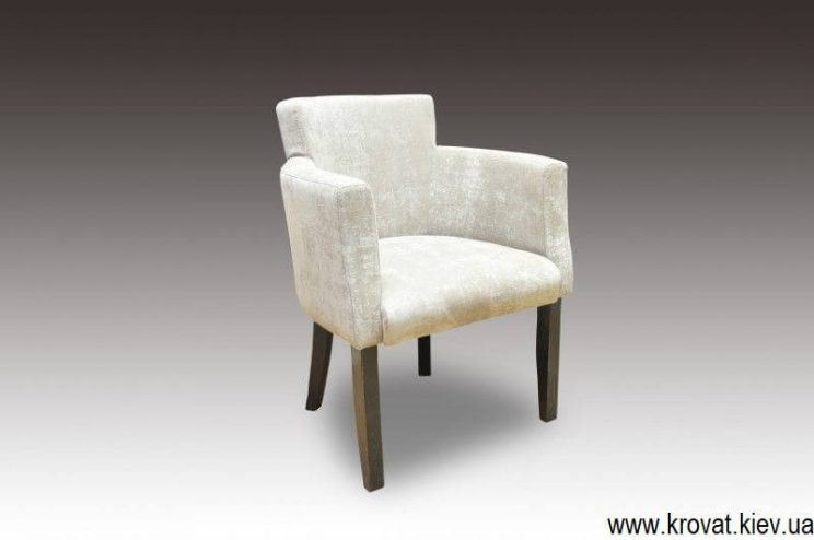 белое кресло для кафе