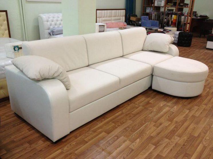 угловой белый диван на заказ