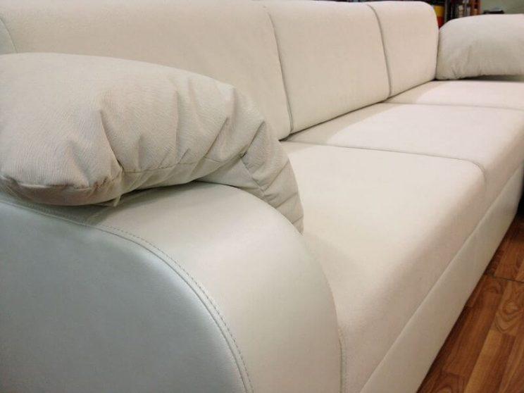 диван с приставным пуфиком на заказ