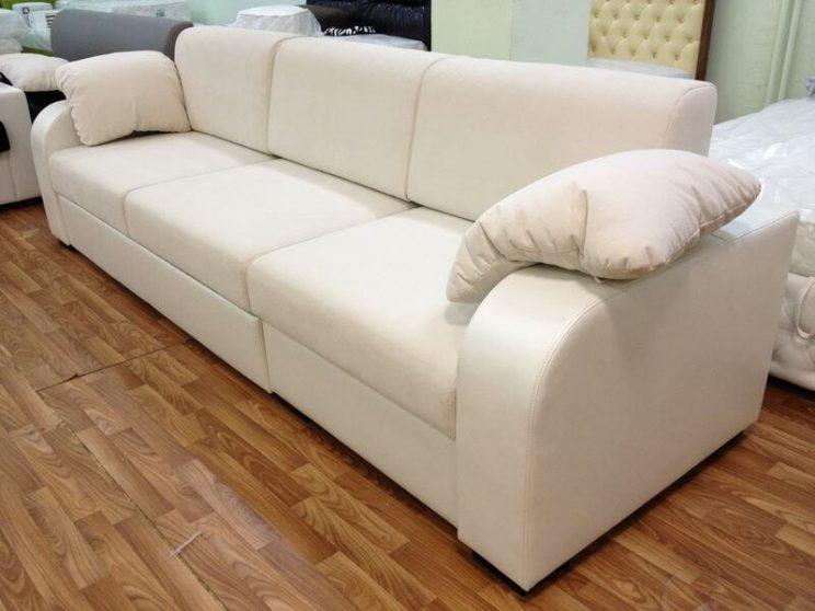 диван в коже и ткани на заказ