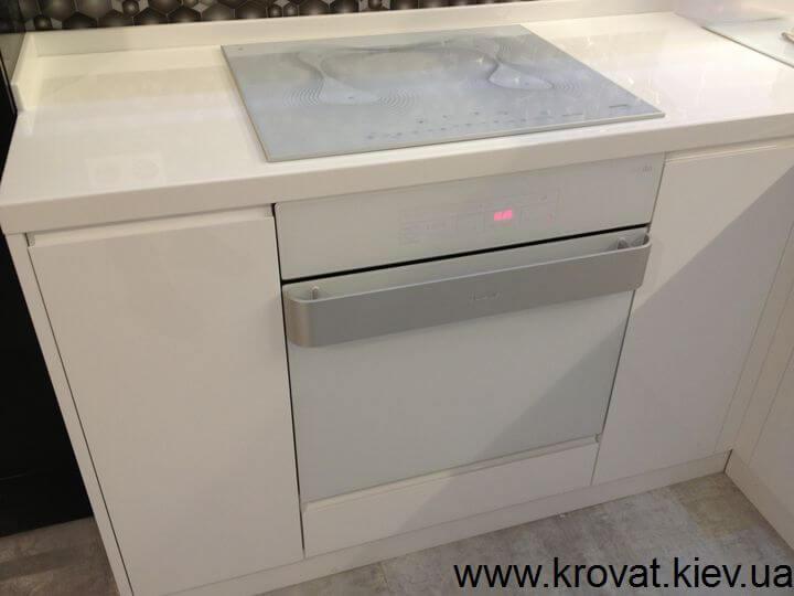 черно белые кухни дизайн