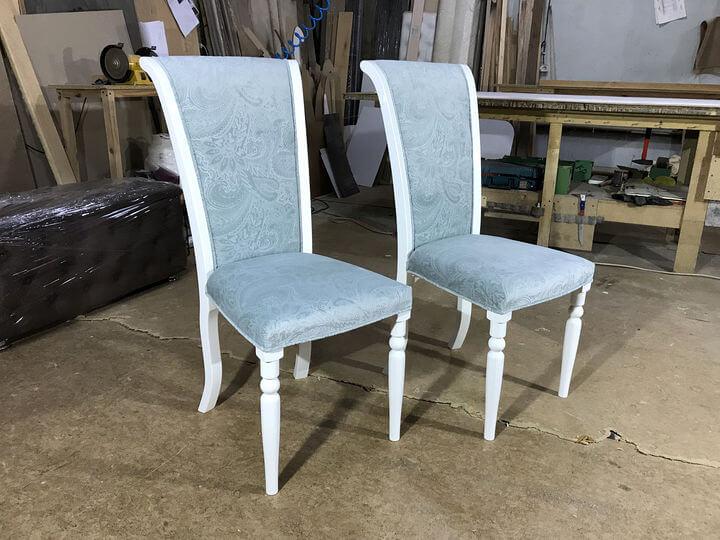 деревянные стулья белого цвета на заказ