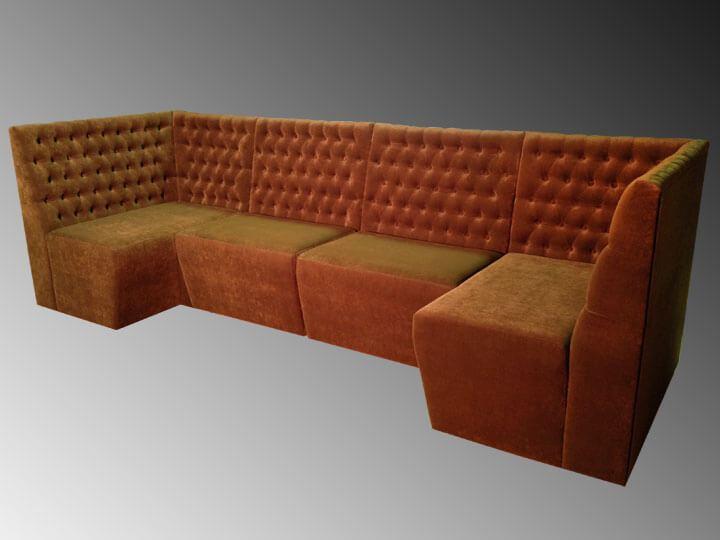 Модульный диван в кафе