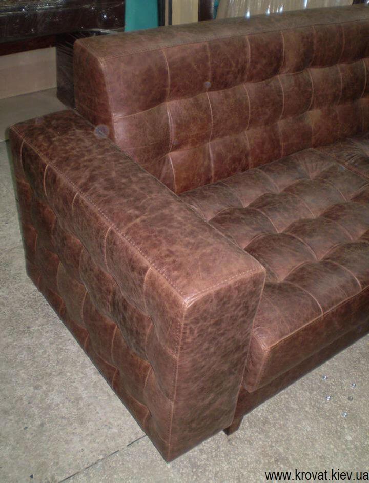 кожаный диван для кафе на заказ