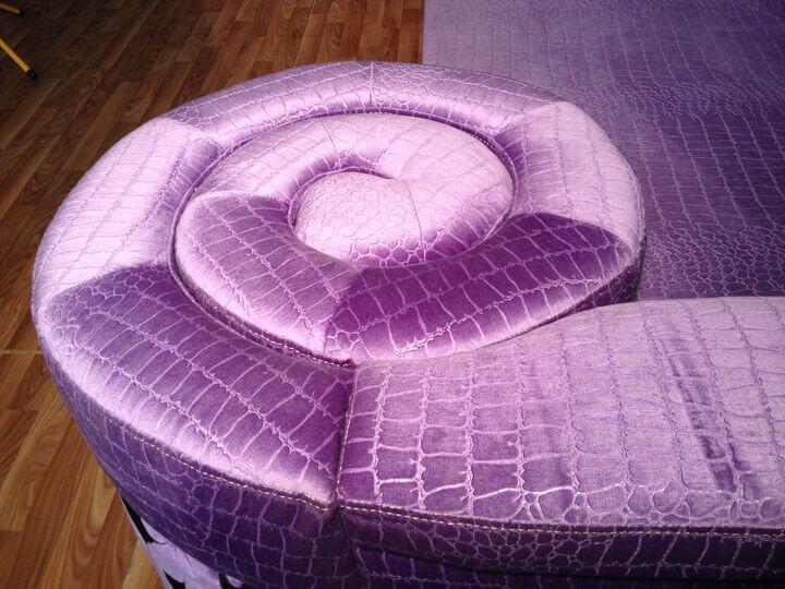 диван по типу улитки