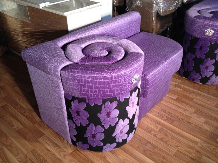 фіолетове крісло на замовлення