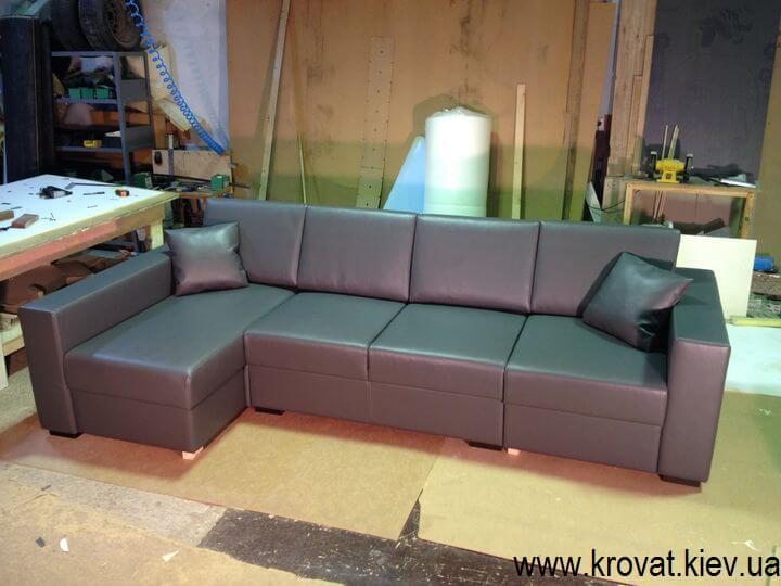 кутовий диван з екошкіри