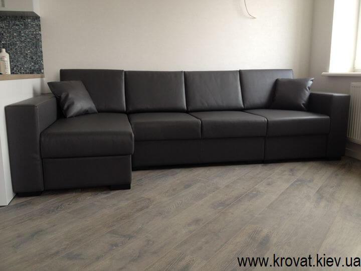 угловой диван на заказ в экокоже