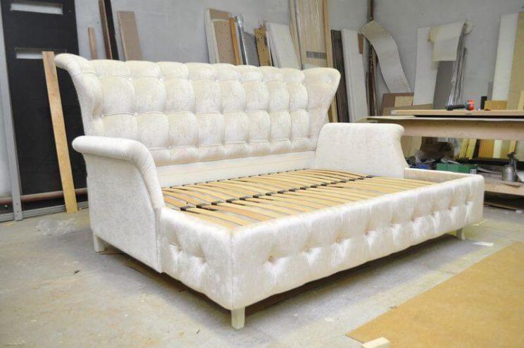 диван ліжко з ортопедичним матрацом