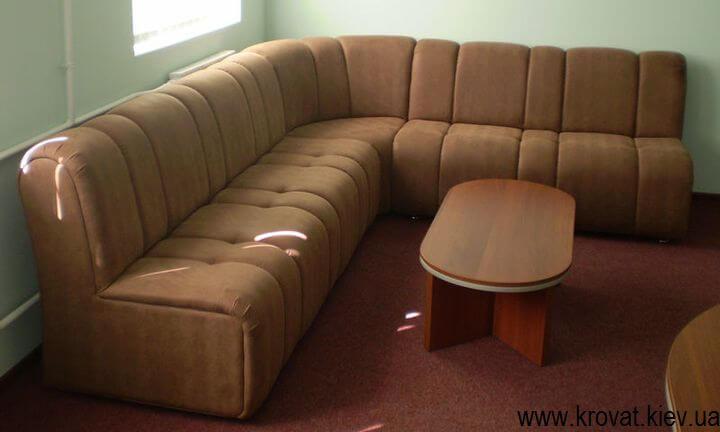 изготовление мягких диванов в кафе