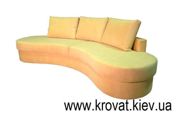 Напівкруглий диван для кухні