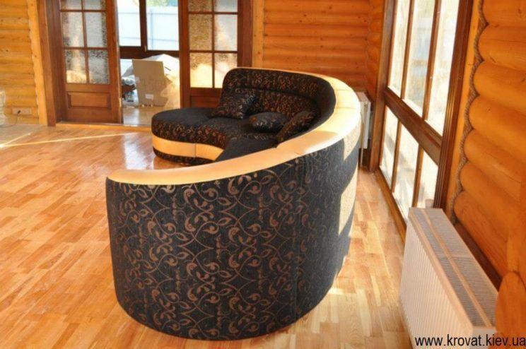 заказной полукруглый диван
