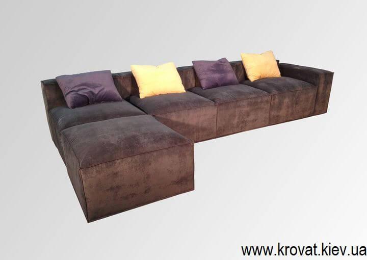 угловой диван в стиле лофт