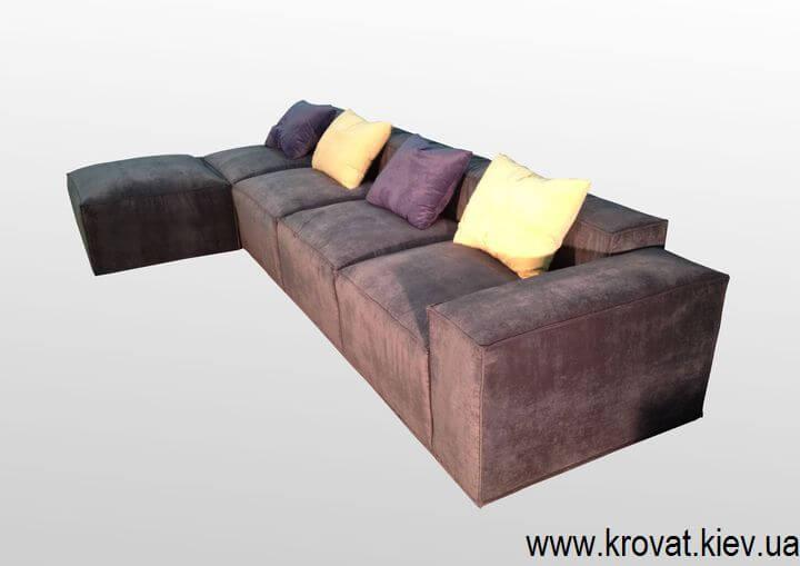 мягкий диван в стиле лофт