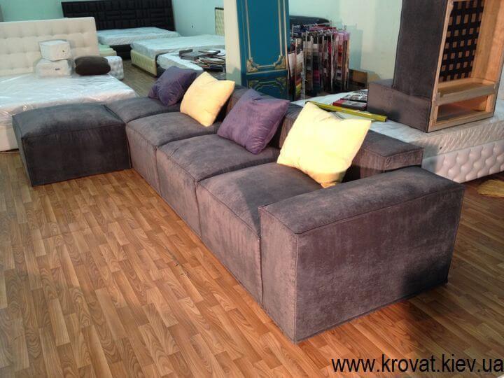 угловые мягкие диваны в стиле лофт