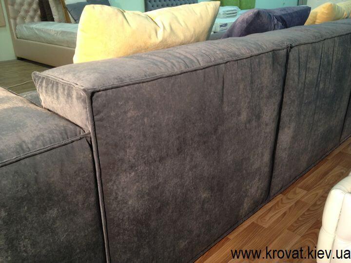 мягкий диван стиль лофт