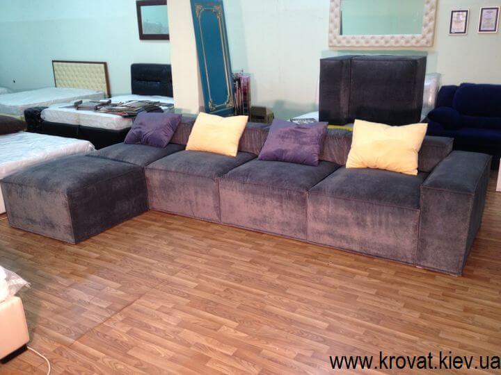 мягкий угловой диван стиль лофт