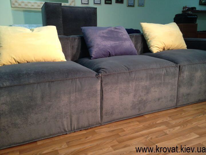мягкий угловой диван стиль лофт на заказ