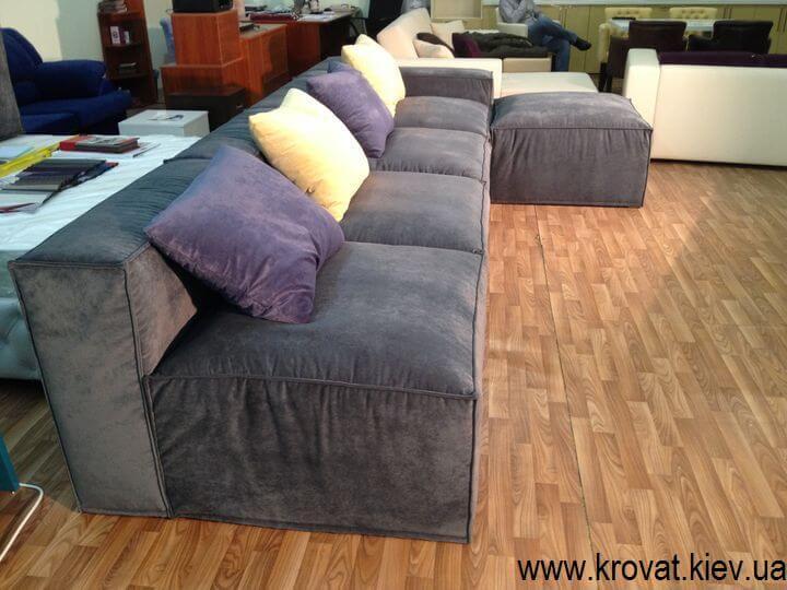 диван с пуфом