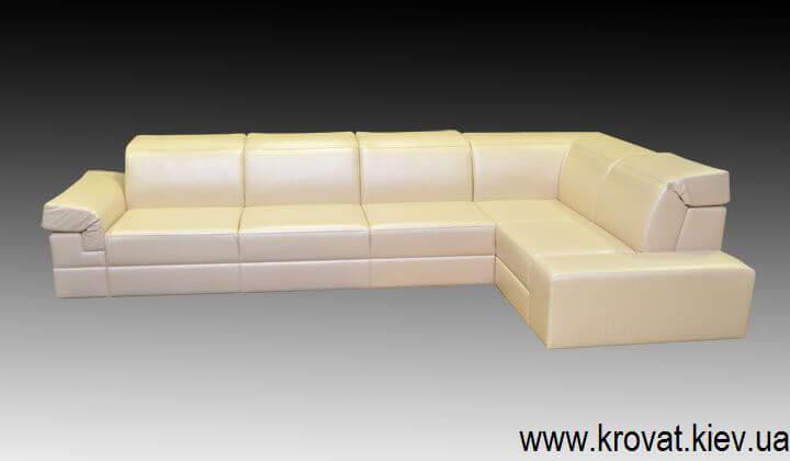 шкіряний диван з підголівниками на замовлення