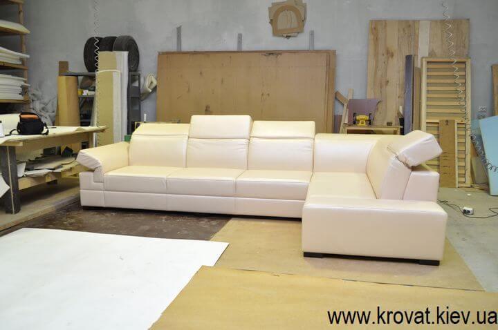 диван с регулирующимися подголовниками на заказ