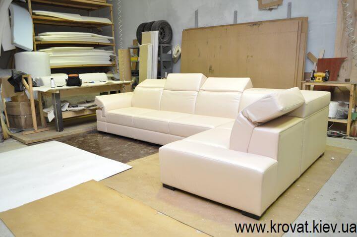 угловой диван с регулирующимися подголовниками на заказ