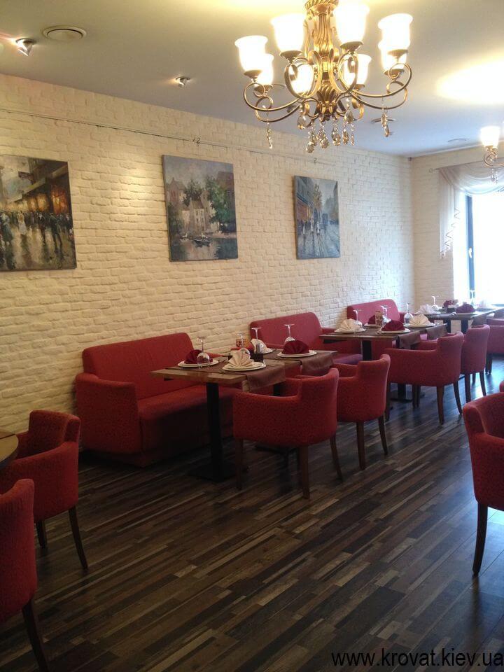 дизайн диванов для ресторана