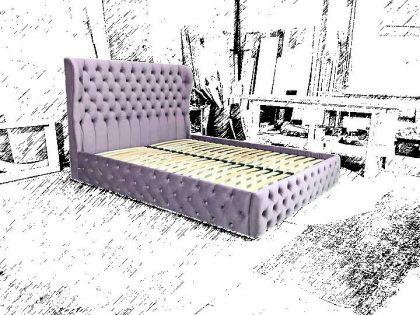 мягкая кровать в итальянской коже на заказ