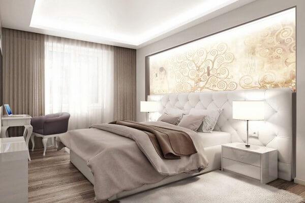 кожаная кровать в спальню на заказ