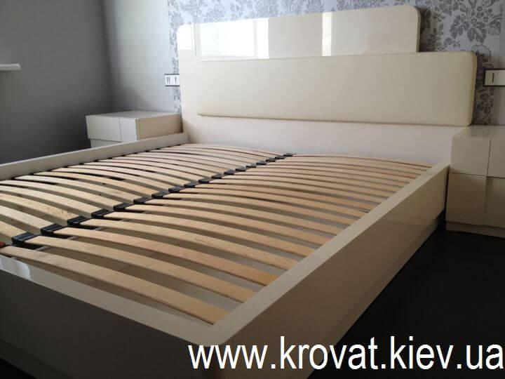ліжко з глянцевого МДФ