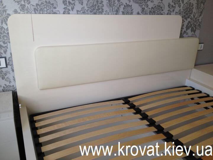 спинка ліжка зі шкірою