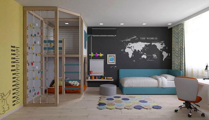 интерьер подростковой спальни для мальчика