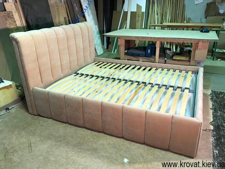 изготовление кроватей с мягким изголовьем по фото