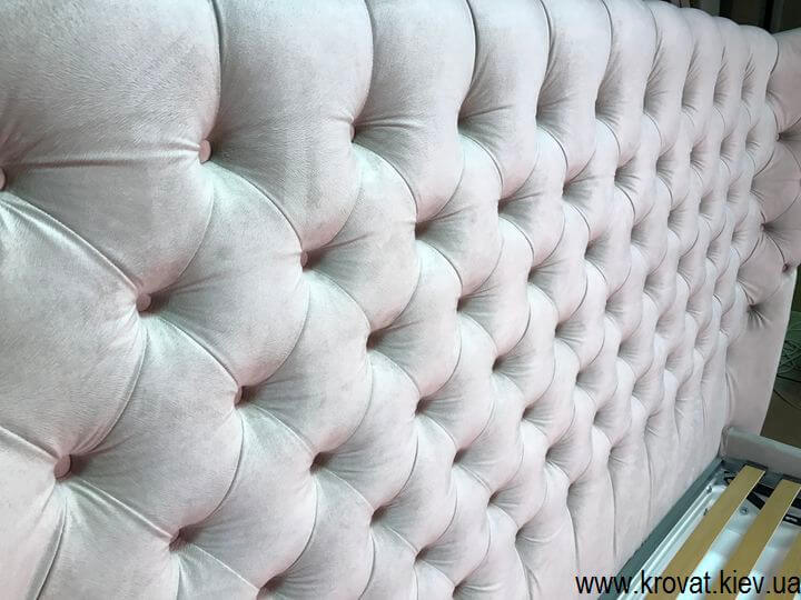 изготовление кроватей с капитоне по фото