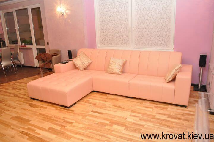 кутовий шкіряний диван на замовлення