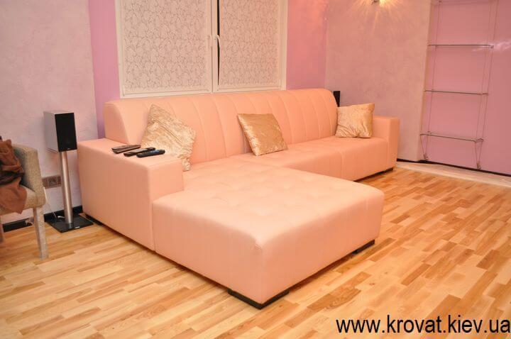 Кожаный угловой диван на заказ