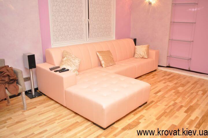 диван из кожи на заказ