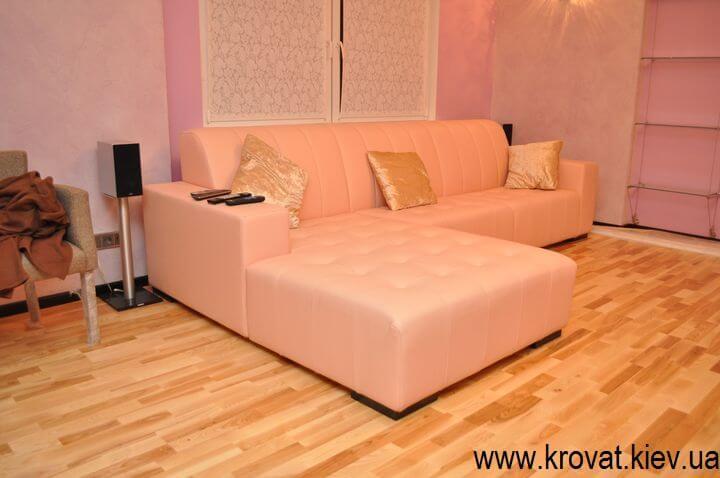 диван в коже на заказ