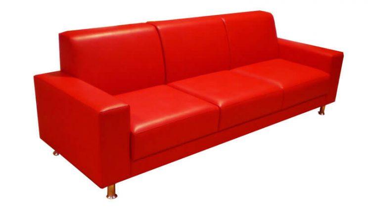 диваны в офис красный