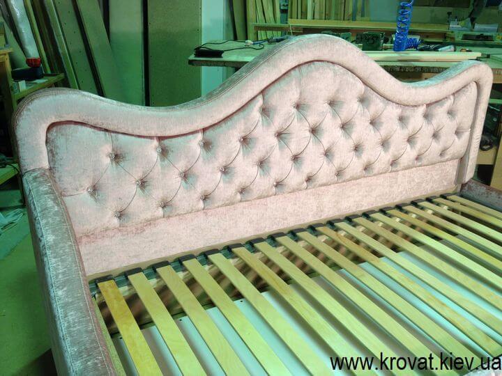 кровать для девочки со стразами на заказ