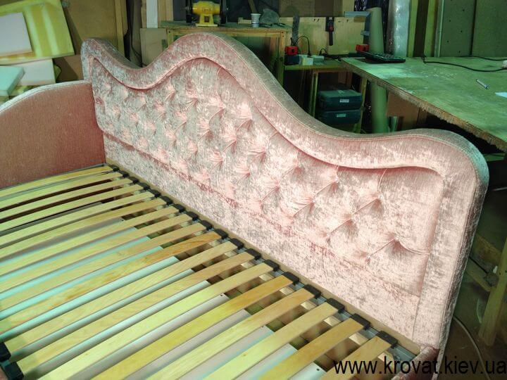 кровать для девочки со стразами Сваровски на заказ